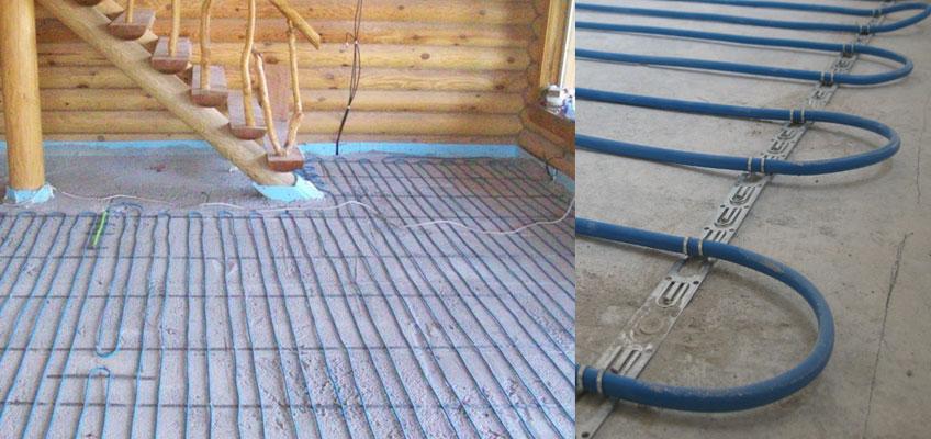Нагревательный кабель Nexans TXLP/2R, монтаж электрического теплого пола в стяжку.
