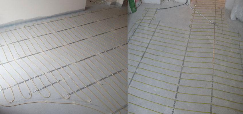 Нагревательный кабель InTherm ADSV-20. Монтаж теплого пола под плитку и в стяжку.