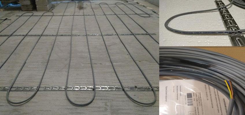 Нагревательный кабель GrayHot монтаж электрического теплого пола.