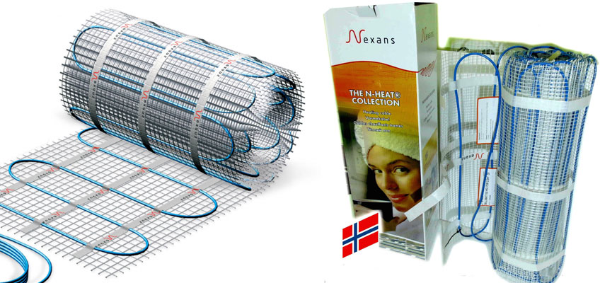 Нагревательный мат Nexans Millimat, для электрического теплого пола под плитку.