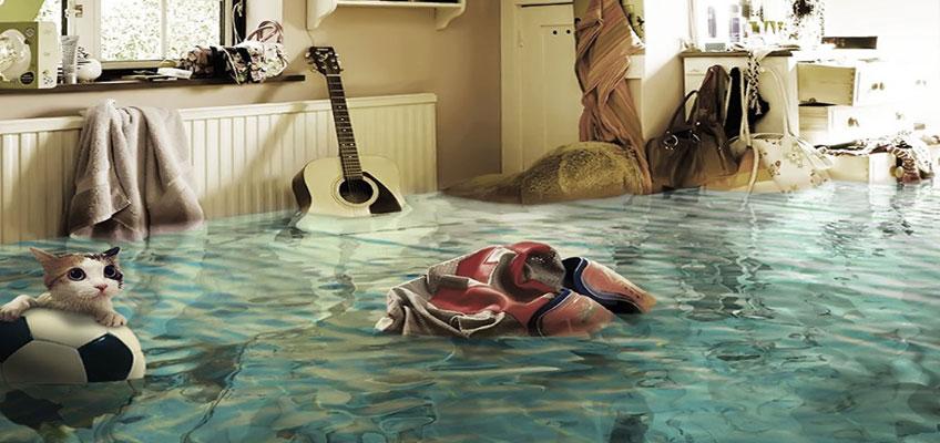 Последствия потопа. Затопление квартиры.
