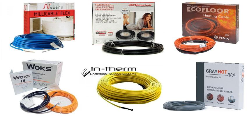 Тонкий кабель под плитку. Шесть популярных производителей тонкого кабеля для электрических теплых полов.