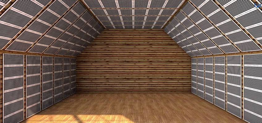 Инфракрасная пленка на мансарде. Нагревательная пленка на стенах и потолке.