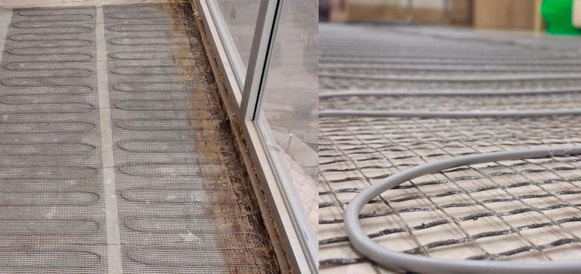 Установка матов Arnold Rak под плитку на балконе