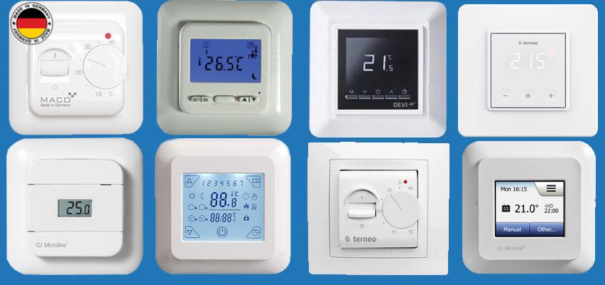 Восемь популярных моделей терморегуляторов для теплого пола