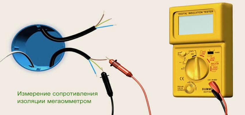 Мегометр и нагревательный кабель теплого пола. Проверка изоляции нагревательного кабеля мегометром.