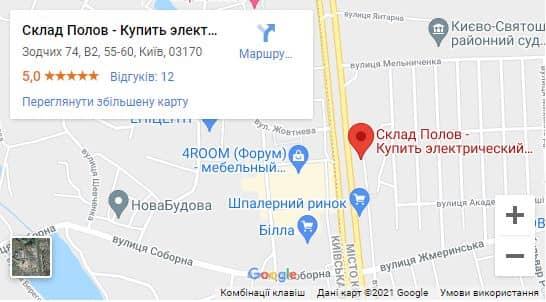 Карта проезда к магазину Склад Полов в Киеве