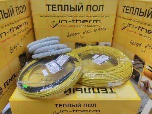 кабель для теплого пола Intherm adsv-18 в упаковке, на коробке